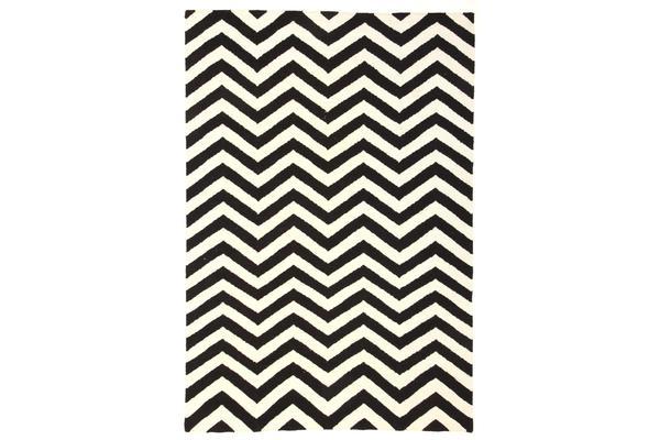Read More > Flat Weave Chevron Design Rug Black White 320x230cm
