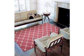 Flat Weave Stitch Design Rug Pink 225x155cm