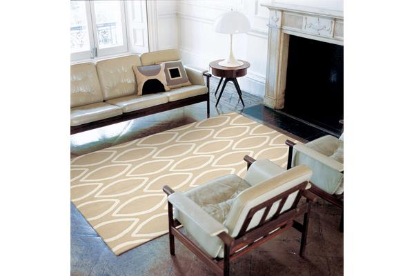 Read More > Flat Weave Oval Print Rug Beige 225x155cm