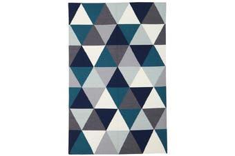 Prism Flat Weave Rug Blue 280x190cm