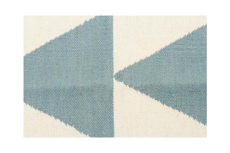 Pyramid Flat Weave Rug Blue 280x190cm