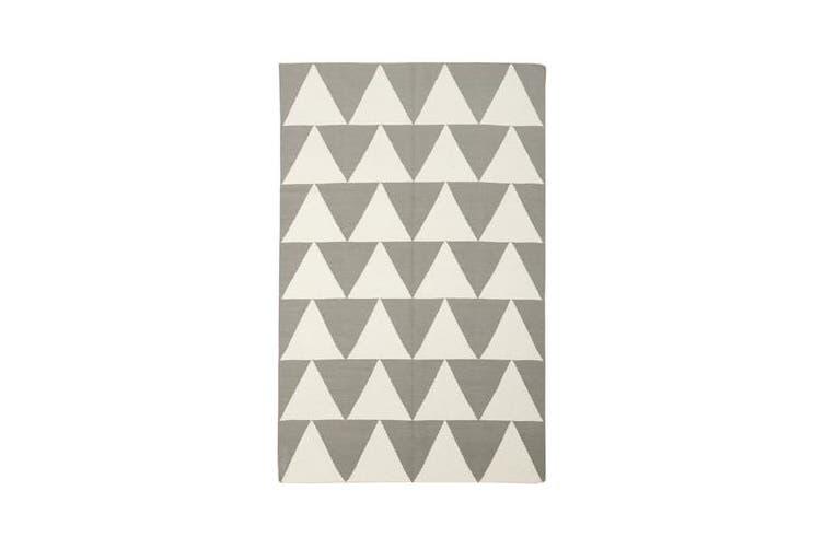 Pyramid Flat Weave Rug Grey 280x190cm