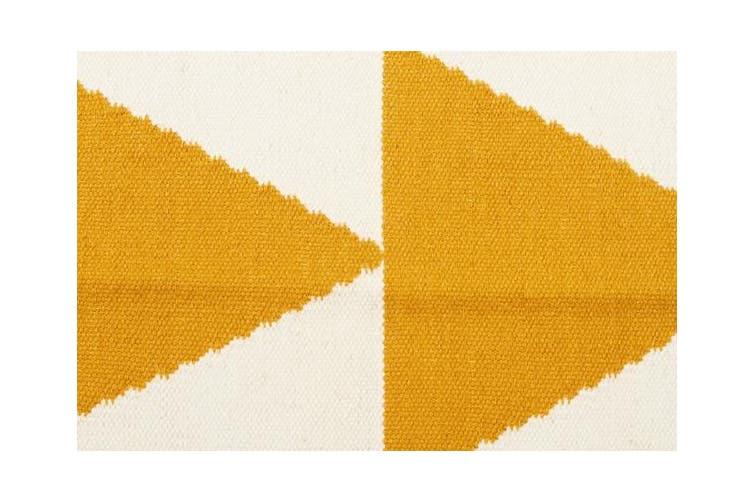 Pyramid Flat Weave Rug Yellow 400x80cm