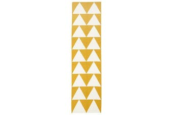 Pyramid Flat Weave Rug Yellow 400x80cm
