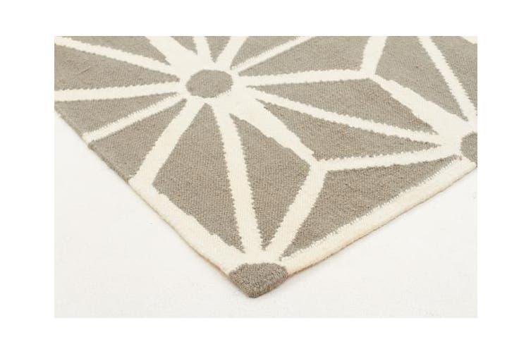 Dandelion Flat Weave Rug Grey 225x155cm
