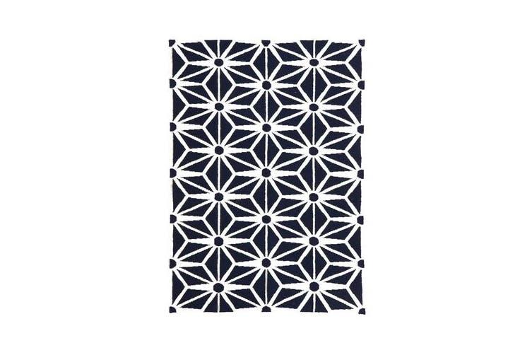 Dandelion Flat Weave Rug Navy 225x155cm