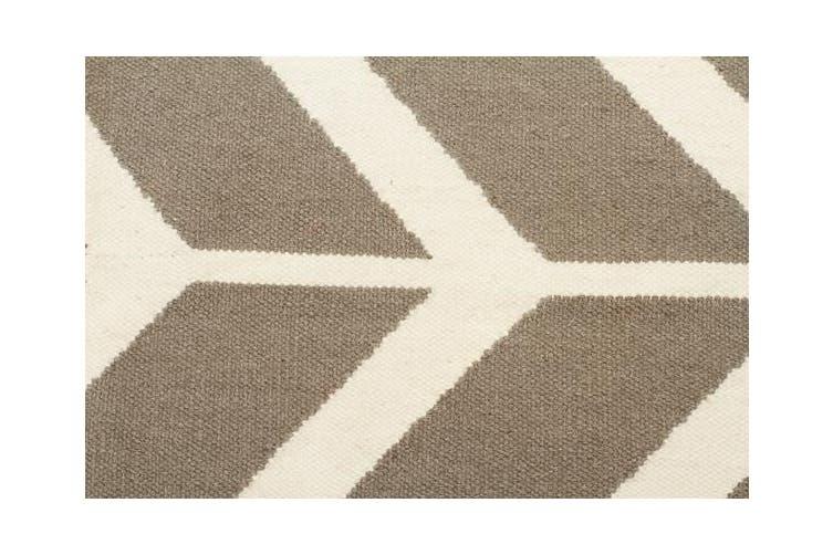Chevron Flat Weave Rug Grey 280x190cm
