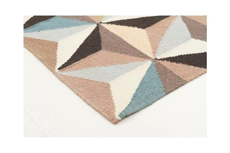 Dimensions Flat Weave Rug Blue 280x190cm