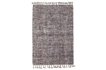 Pristine Wool Acrylic Flat woven Grey Rug 225x155cm