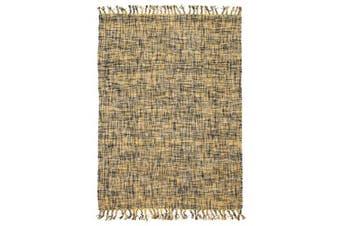 Sunshine Cotton Flat woven Yellow Rug 280x190cm