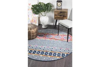 Amelia Multi Boho Durable Round Rug