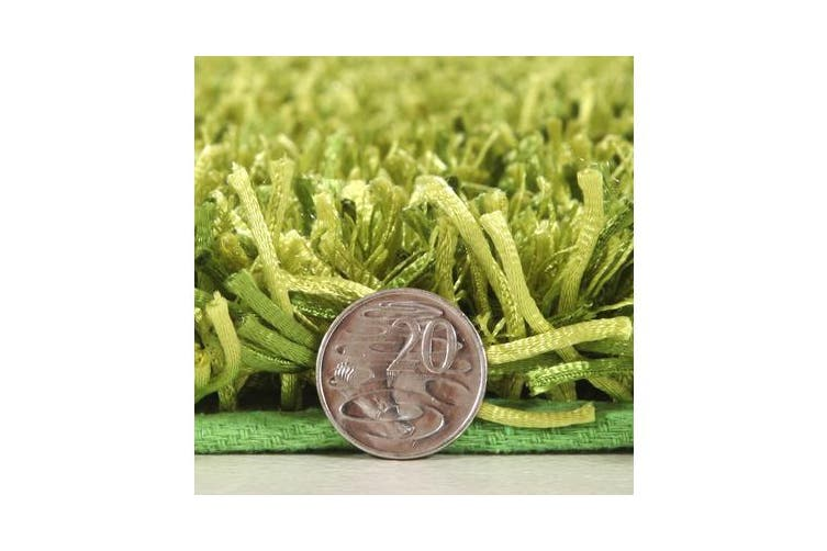 Metallic Noodle Shag Rug Lime 225x155cm