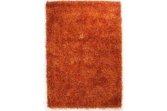 Metallic Noodle Shag Rug Rust