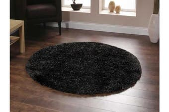 Twilight Shag Rug - Chocolate 120x120cm