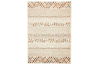 Mayfair Squares Bone Runner Rug 400X80cm