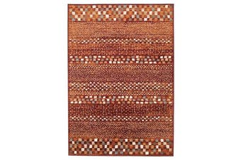 Mayfair Squares Rust Rug 330X240cm