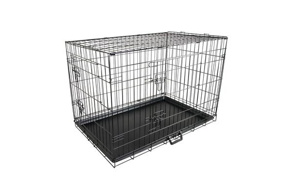 "48"""" Foldable Metal Wire Dog Cage with Removable Tray"