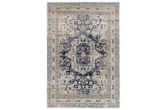 Esquire Brushed Traditional Blue Rug 290X200cm