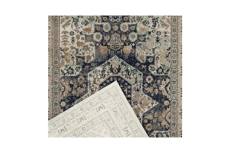 Esquire Brushed Traditional Blue Rug 400X300cm
