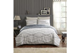 Park Avenue 250 Thread count 100 % Cotton Reversible Quilt Cover Set Queen Bed -  Antigua