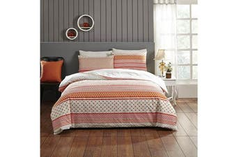Park Avenue 250 Thread count 100 % Cotton Reversible Quilt Cover Set Double Bed -  Aviana