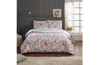 Park Avenue 250 Thread count 100 % Cotton Reversible Quilt Cover Set Queen Bed -  Florence
