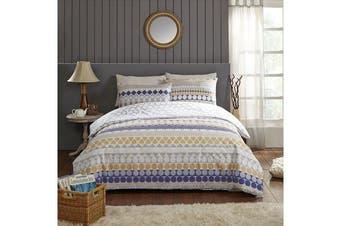 Park Avenue 250 Thread count 100 % Cotton Reversible Quilt Cover Set Queen Bed -  Linea