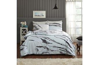 Park Avenue 250 Thread count 100 % Cotton Reversible Quilt Cover Set Queen Bed -  Marabelle