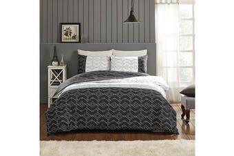 Park Avenue 250 Thread count 100 % Cotton Reversible Quilt Cover Set Queen Bed -  Porcelain