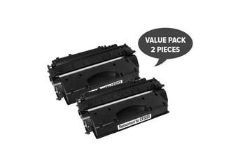 CE505A #05A Cart 319i Black Premium Generic Toner (Set of 2)