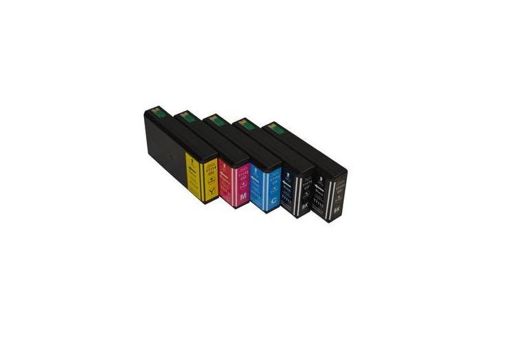 711XXL Series Compatible Inkjet Cartridge Set PLUS Extra Black (5 cartridges)