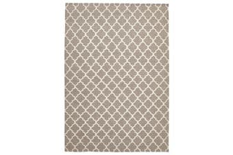 Bazaar Natural Trellis Wool Flat Weave Rug 280x190cm