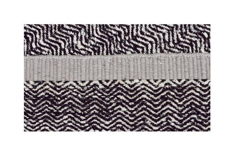 Zigga Flat Weave Rug Black 225x155cm