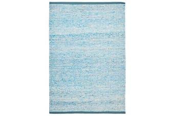 Zigga Flat Weave Rug Blue 280x190cm