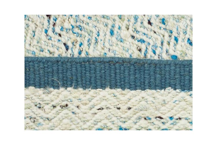 Zigga Flat Weave Rug Turquoise 225x155cm