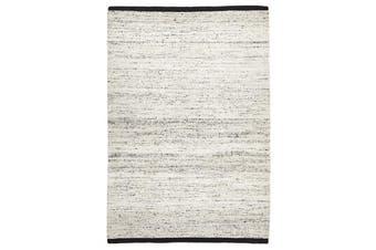 Zigga Flat Weave Rug White 280x190cm