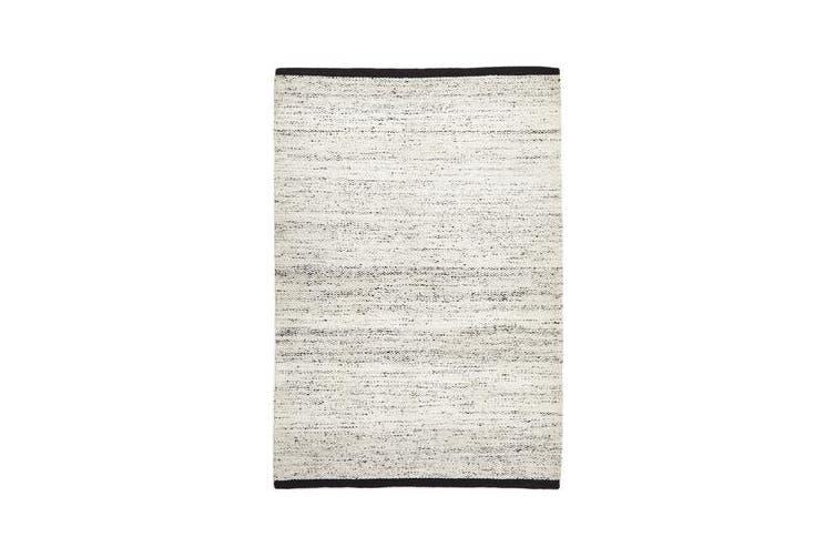 Zigga Flat Weave Rug White 320x230cm