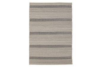 Hellena Braided Silver Felted Wool Rug 225x155cm