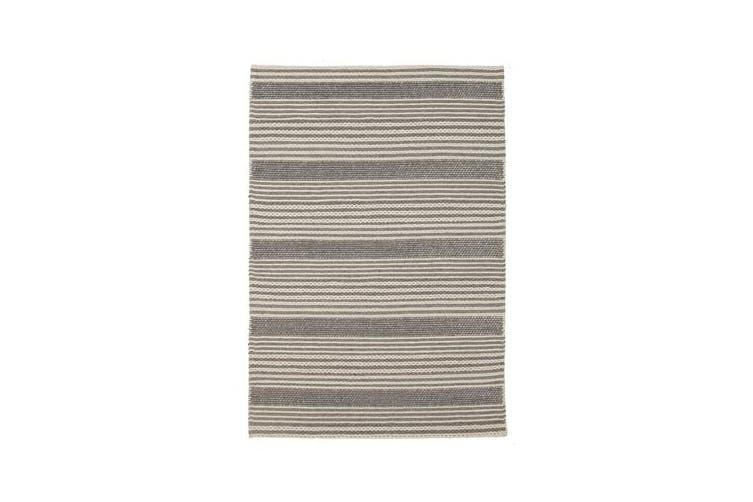 Hellena Braied Silver Felted Wool Rug 280x190cm