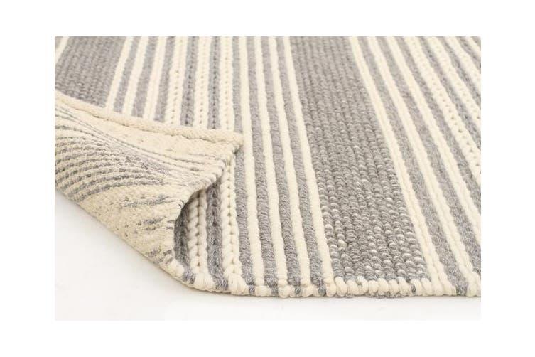 Hellena Braied Silver Felted Wool Rug 320x230cm