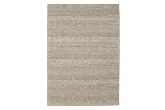 Hand Braied Grey Felted Wool Rug