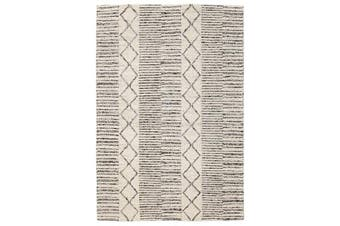 Hellena Braied Grey Wool Rug 320x230cm