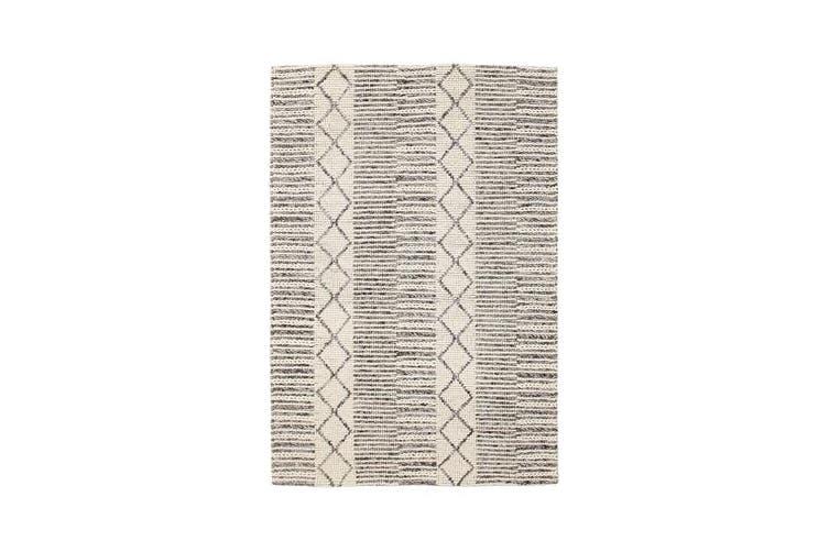 Hellena Braied Grey Wool Rug 280x190cm