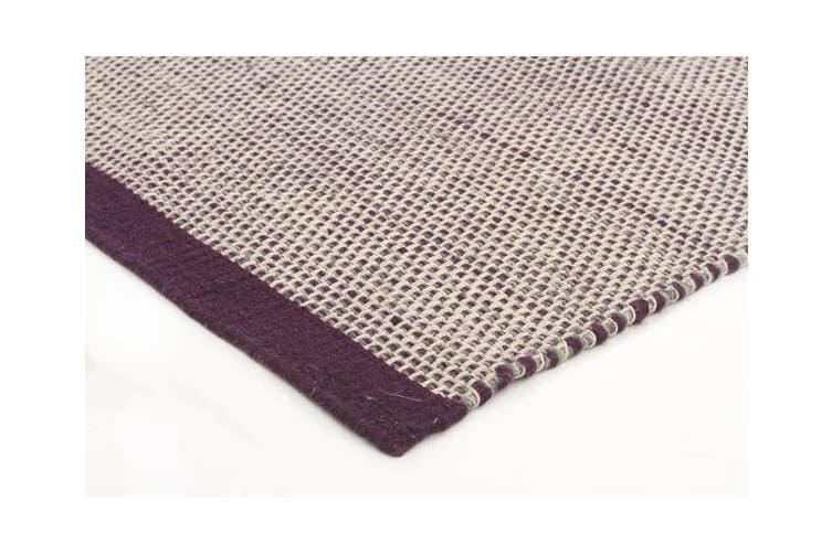 Marlo Flatweave Aubergine Wool Rug 225x155cm