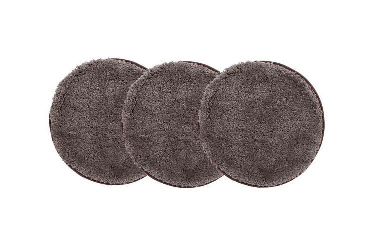 Pack of 3 Freckles Round Shag Rugs Dark Brown 60x60cm