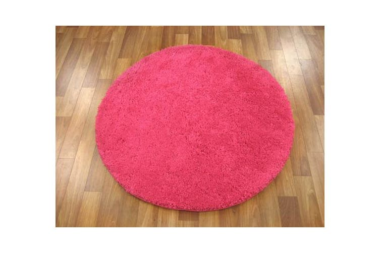 Pack of 3 Freckles Round Shag Rugs Pink 60x60cm