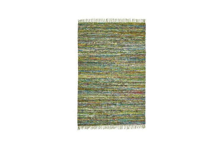 Primal Chindi Cotton Rug Green 270x190cm