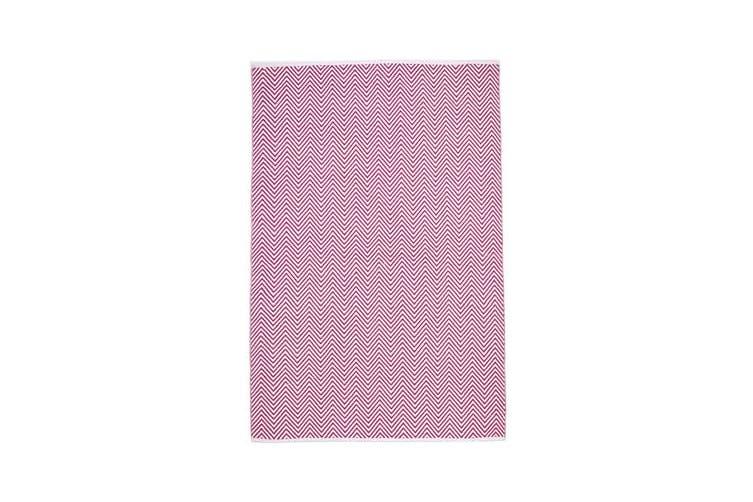 Villa Modern Herringbone Rug Pink 270x180cm