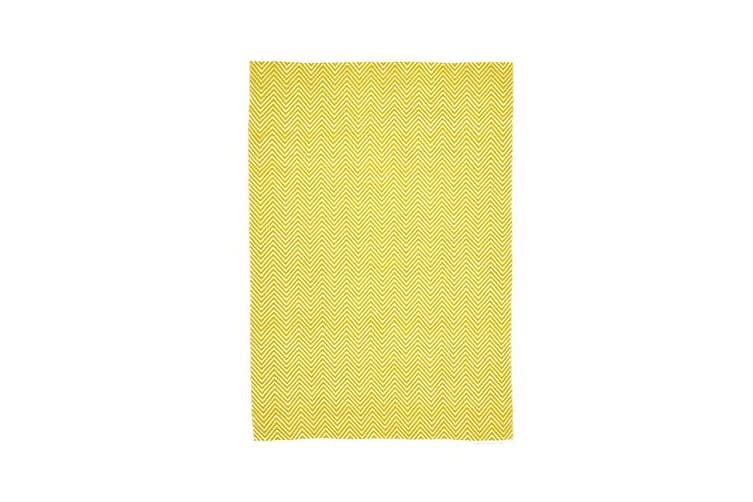 Villa Modern Herringbone Rug Yellow 270x180cm