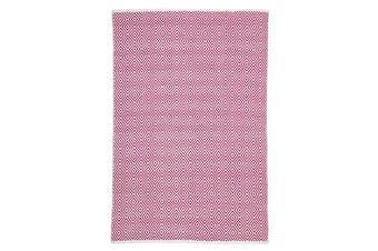 Villa Modern Diamond Rug Pink